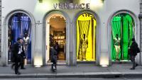 Край на кожата от кенгуру в моделите на Versace