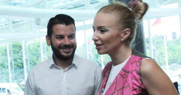 Продуцентът Иван Христов и съпругата му Ирина Тенчева от години