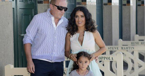 Салма Хайек рядко споделя снимки на дъщеря си в социалните