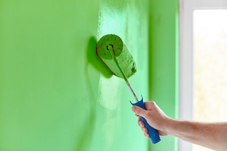 зелено боядисване